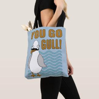 Mustache Seagull You Go Gull Tote Bag