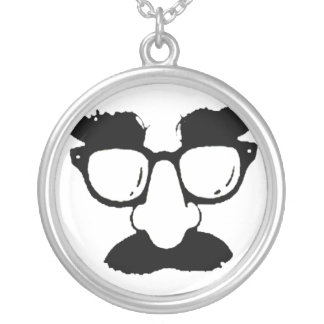 Mustache - silver plated necklace