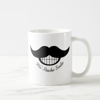 Mustache Smile Basic White Mug