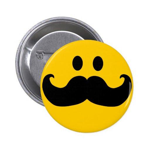 Mustache Smiley Button