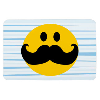 Mustache Smiley Magnets