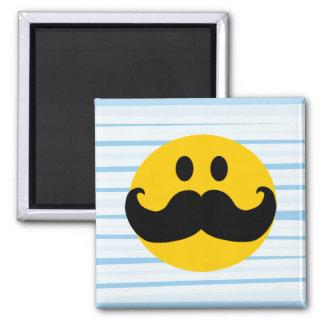 Mustache Smiley Refrigerator Magnets