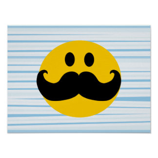 Mustache Smiley Poster