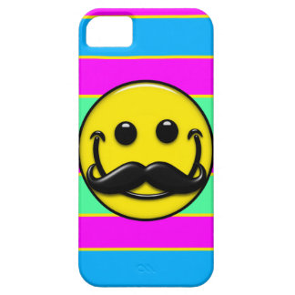 Mustache Smiley Stripes iPhone 5 Cases