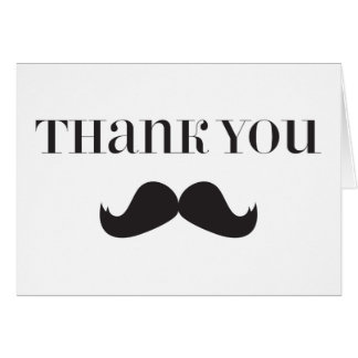Mustache - Stache Thank You Note Cards