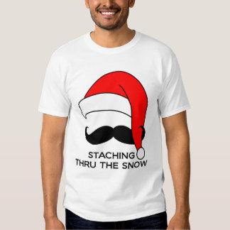 Mustache T-shirt - Staching thru the snow