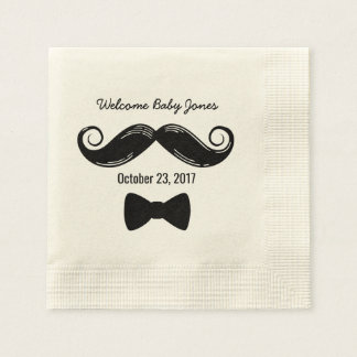 Mustache Themed Napkins for Little Man Baby Shower Disposable Napkin
