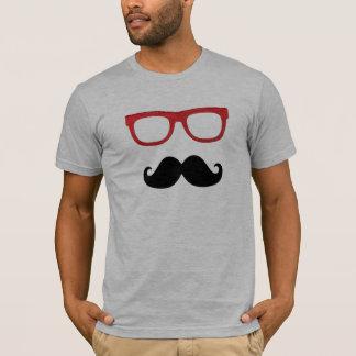 mustache thick rim glasses T-Shirt