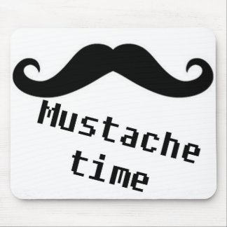 mustache time mouse pads