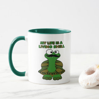 Mustache Turtle Living Shell Mug