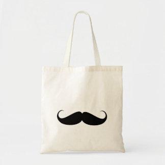 mustache vintage symbol funny moustache budget tote bag