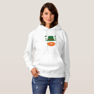 Mustache With Shamrock St. Patrick's Day Hoodie