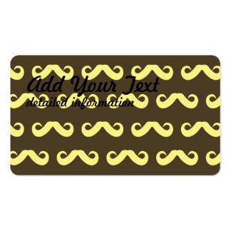 Mustache Yellows Business Card Template