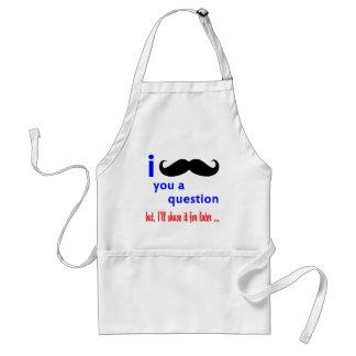 Mustache You a Question QPC Template Standard Apron