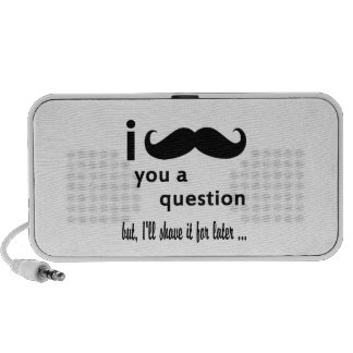 Mustache You a Question Travel Speakers