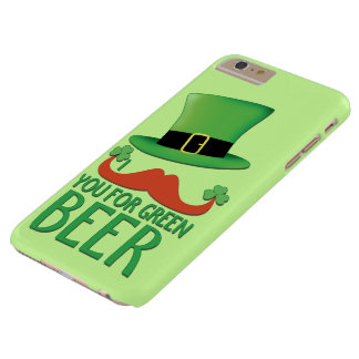 Mustache you for green beer ginger mustache clover barely there iPhone 6 plus case