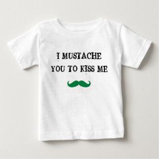 mustache you to kiss me st. paddy baby shirt irish