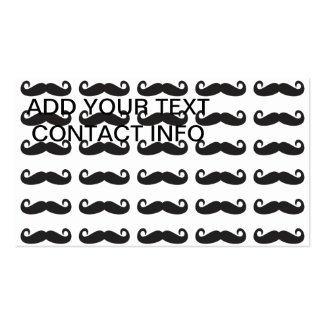 Mustaches Pack Of Standard Business Cards