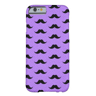 Mustaches Pattern Lilac Barely There iPhone 6 Case