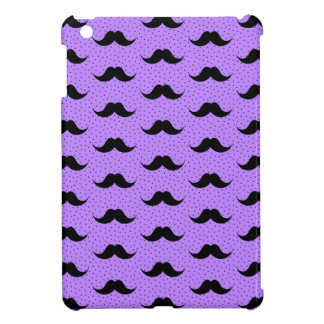 Mustaches Pattern Lilac iPad Mini Covers