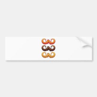Mustaches Set 2 Bumper Sticker