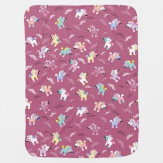 Mustachio Unicornio! Baby Blanket