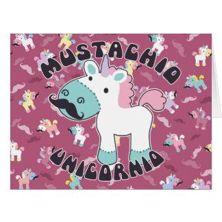 Mustachio Unicornio! Card
