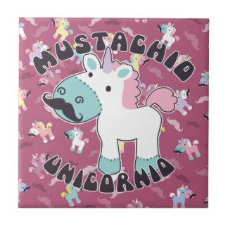 Mustachio Unicornio! Ceramic Tile