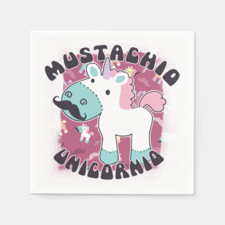 Mustachio Unicornio Disposable Serviette