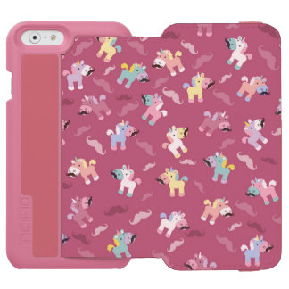 Mustachio Unicornio Incipio Watson™ iPhone 6 Wallet Case