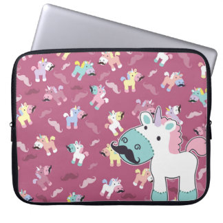 Mustachio Unicornio Laptop Sleeve