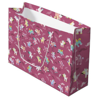 Mustachio Unicornio Large Gift Bag