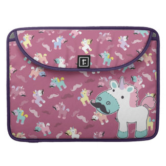 Mustachio Unicornio Sleeve For MacBook Pro