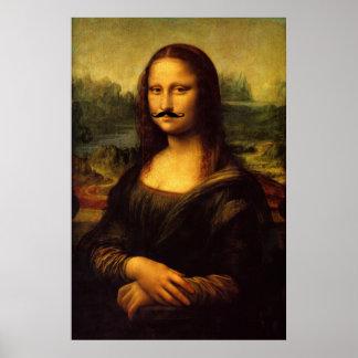 Mustachioed Mona Lisa Poster