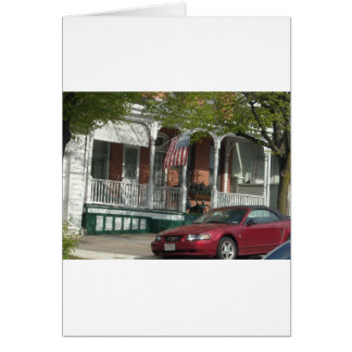 Mustang and American Flag in Hampden Card