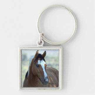 Mustang Button Keychain