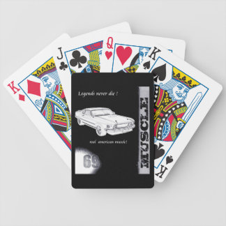 Mustang design bicycle playing cards
