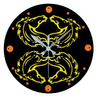 Mustang Double Acrylic Wall Clock