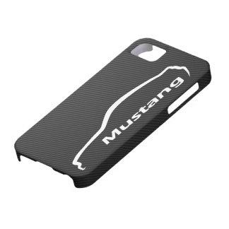 Mustang GT Coupe White Silhouette Logo Barely There iPhone 5 Case