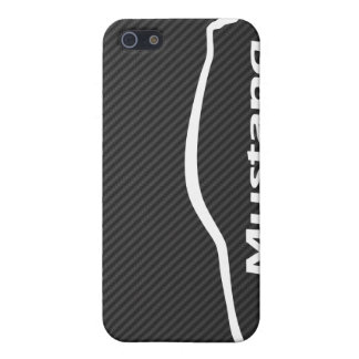 Mustang GT Coupe White Silhouette Logo Cover For iPhone 5/5S