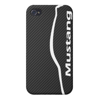 Mustang GT Coupe White Silhouette Logo iPhone 4 Cases