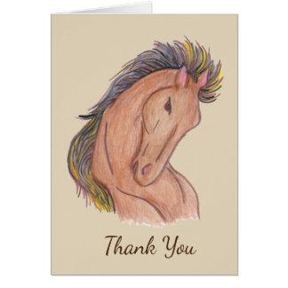 Mustang Horse Card