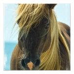 """Mustang Horse Invitation 5.25"""" Square Invitation Card"""