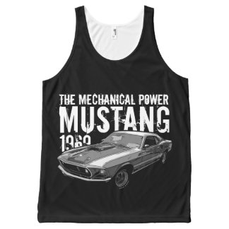 Mustang mechanical power All-Over print singlet