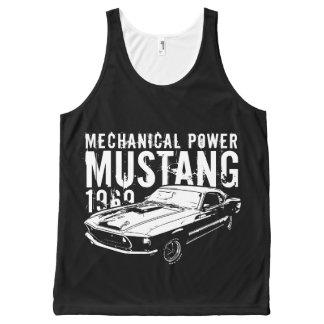 Mustang mechanical power All-Over print singlet
