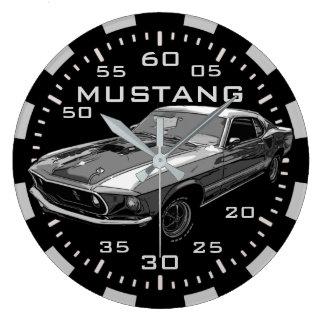 Mustang mechanical power large clock