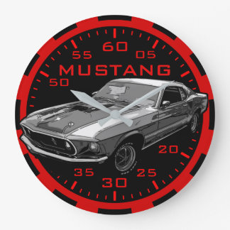 Mustang mechanical power large clock
