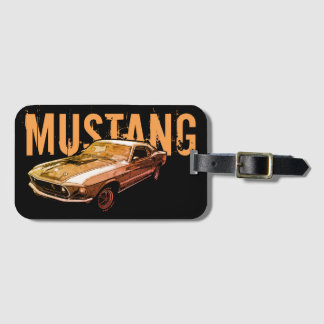 Mustang mechanical power luggage tag