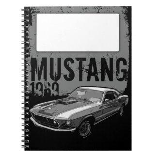 Mustang mechanical power spiral notebook