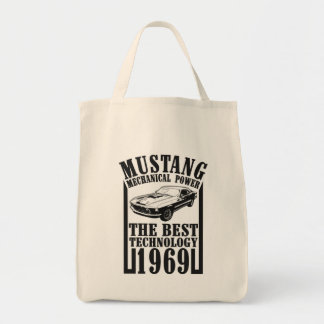 Mustang mechanical power tote bag